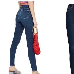 Topshop Moto Jamie jeans in indigo